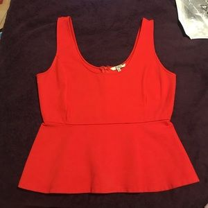 BB Dakota Red Peplum Tank Top